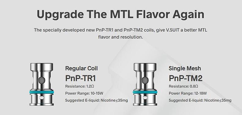 VOOPOO V.SUIT Pod Starter Kit Upgrade PnP Coils