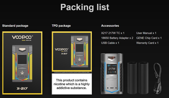 VOOPOO X217 Mod Feature10