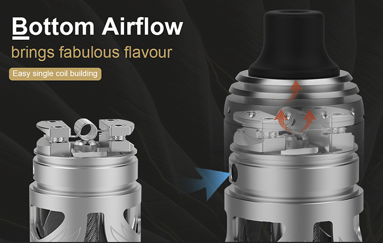 Vapefly Brunhilde MTL RTA Bottom Airflow