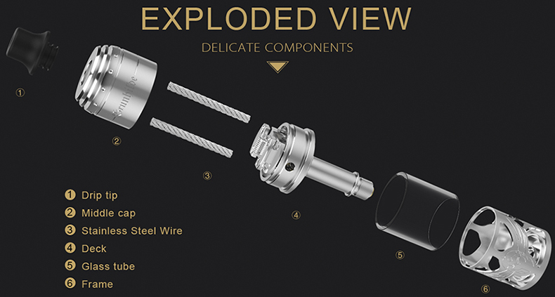 Vapefly Brunhilde MTL RTA Exploded View