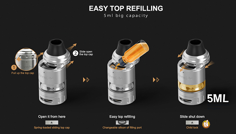 Vapefly Kriemhild Vape Kit Top Filling