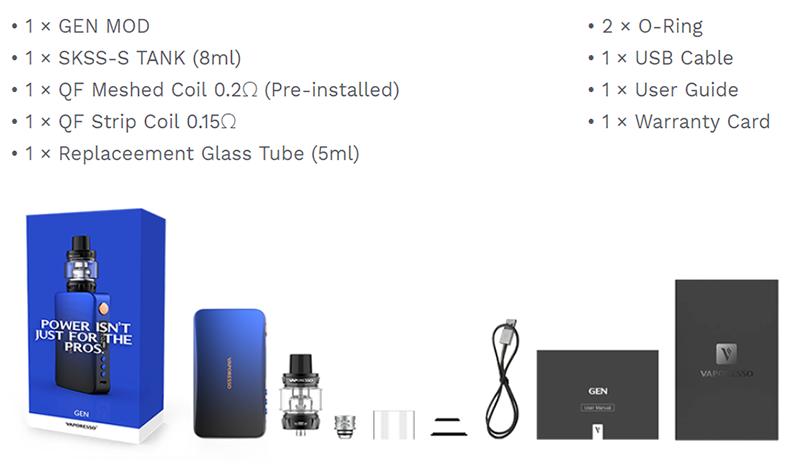 Vaporesso GEN Kit Includes