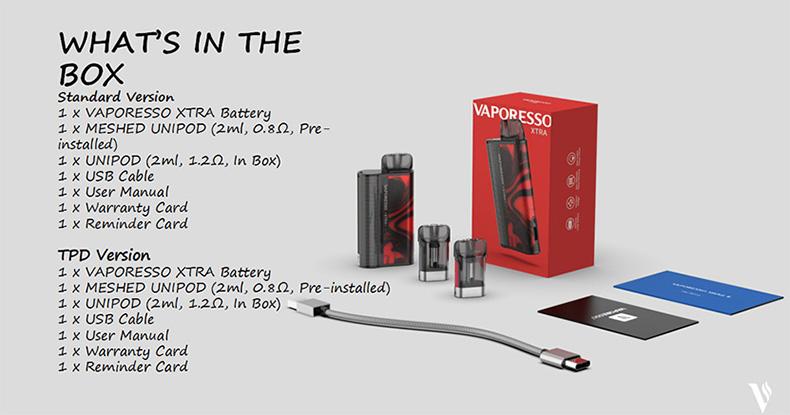 Vaporesso XTRA Starter Kit Package