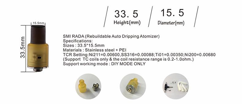 Vsticking SMI RADA RDA Parameter