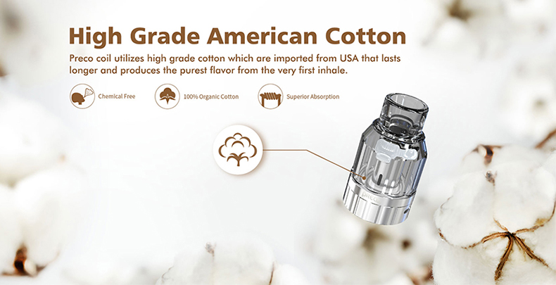 Preco 2 DTL Tank Atomizer Cotton