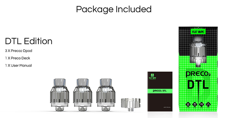 Preco 2 DTL Sub Ohm Tank Package