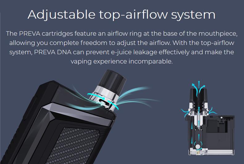 Wismec Preva DNA Pod System Kit Top-airflow