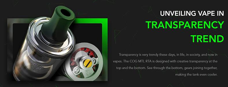 Wotofo COG RTA Transparency