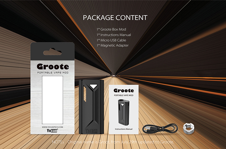 Yocan Groote Box Mod Package