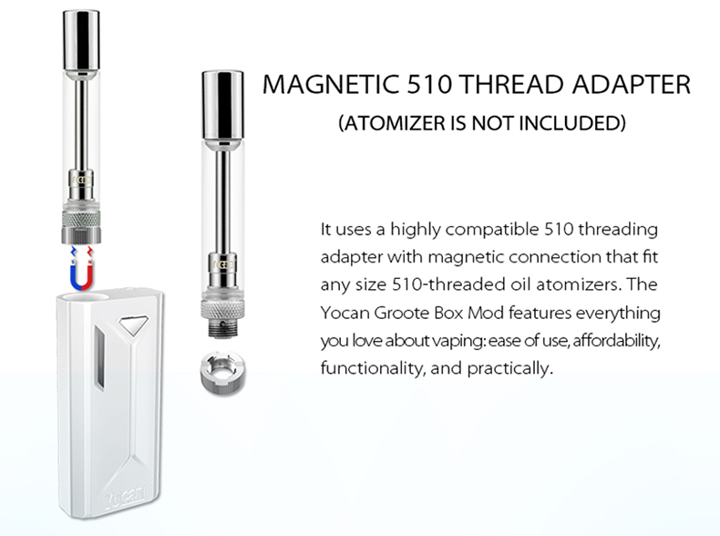 Groote Vape Mod Magnetic 510 Thread Adapter
