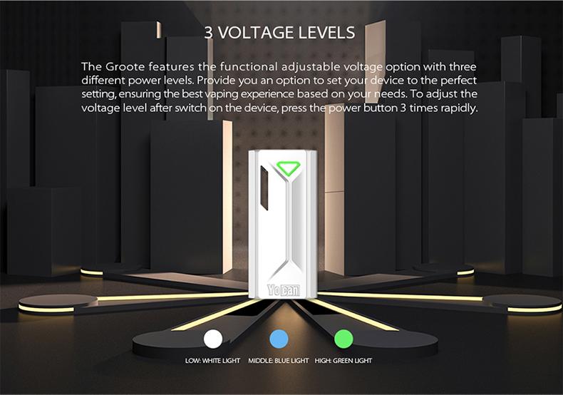 Yocan Groote Box Mod Voltage