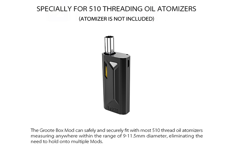 Groote Vape Mod for 510 Thread Oil Atomizer