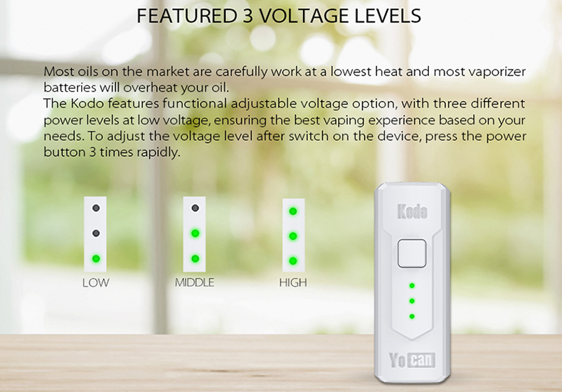 Kodo Vape Battery Voltage