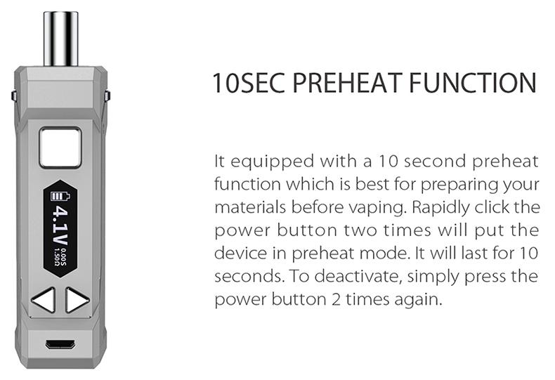 UNI Pro Mod 10s Preheat Function
