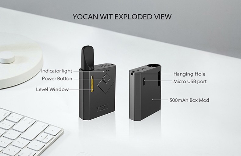 Yocan Wit Box Mod Structure