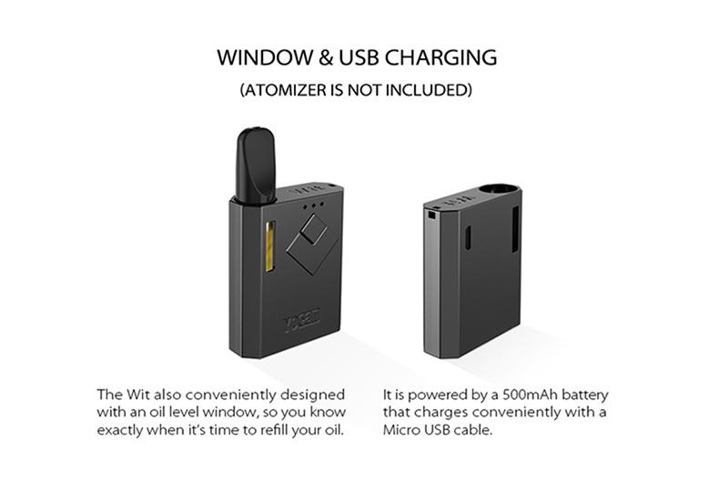 Yocan Wit Box Mod Window USB Charging