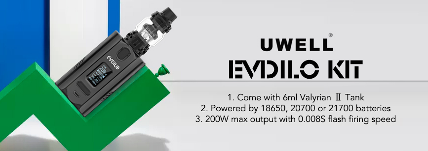 Uwell Evdilo Vape Kit With Valyrian Tank Banner