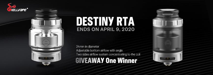 Hellvape Destiny RTA Giveaway Banner