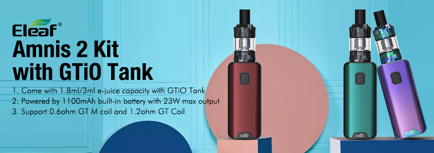 Eleaf iStick Amnis 2 Kit with GTiO Tank Banner
