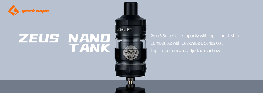 GeekVape Zeus Nano Tank Banner