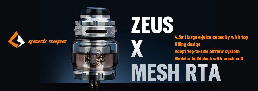 Geekvape Zeus X Mesh RTA Banner