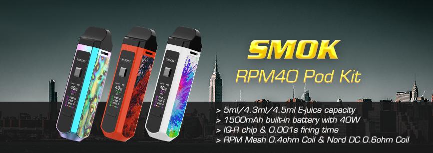 SMOK RPM40 Pod Kit Banner