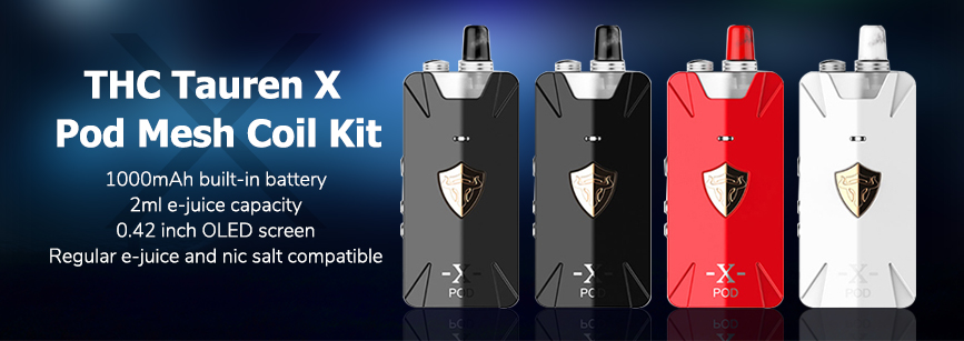THC Tauren X Pod Mesh Coil Kit Banner