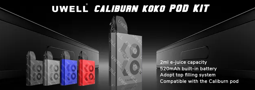 Uwell Caliburn KOKO Pod Kit Banner