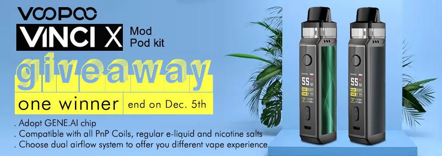 VOOPOO VINCI X Mod Pod Kit Giveaway Banner