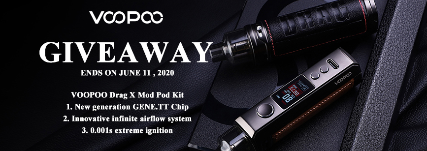 voopoo drag x kit giveaway banner