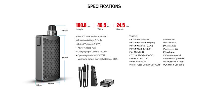 Kylin M AIO Kit Specification